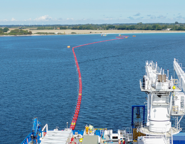 High voltage cable offshore installation for the Kriegers Flak windfarm